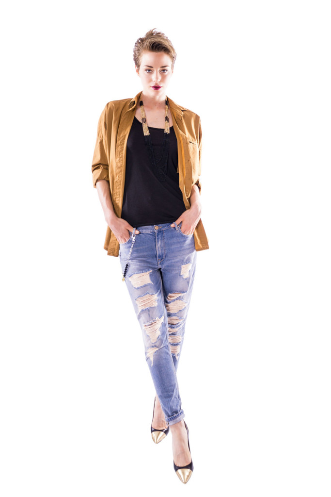Tacchi alti e jeans scarpe donna